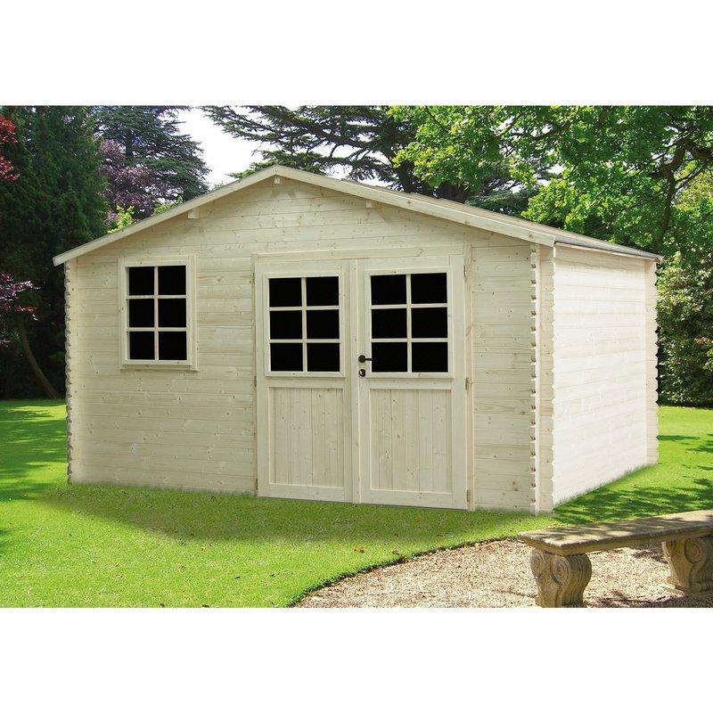 Abri de jardin madeira 3 98x2 98m bois miha maison et styles - Abris de jardin destockage ...