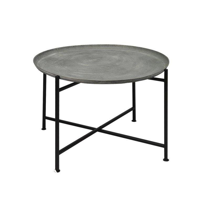 table basse ronde en m tal maison et styles. Black Bedroom Furniture Sets. Home Design Ideas