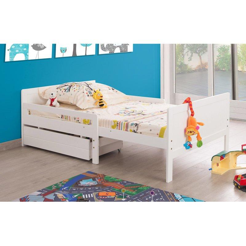 lit extensible 90 x 140 170 200 cm maison et styles. Black Bedroom Furniture Sets. Home Design Ideas