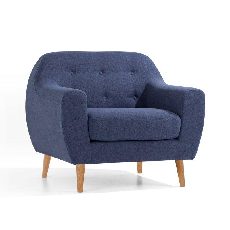 fauteuil scandinave bleu marine scandi maison et styles. Black Bedroom Furniture Sets. Home Design Ideas