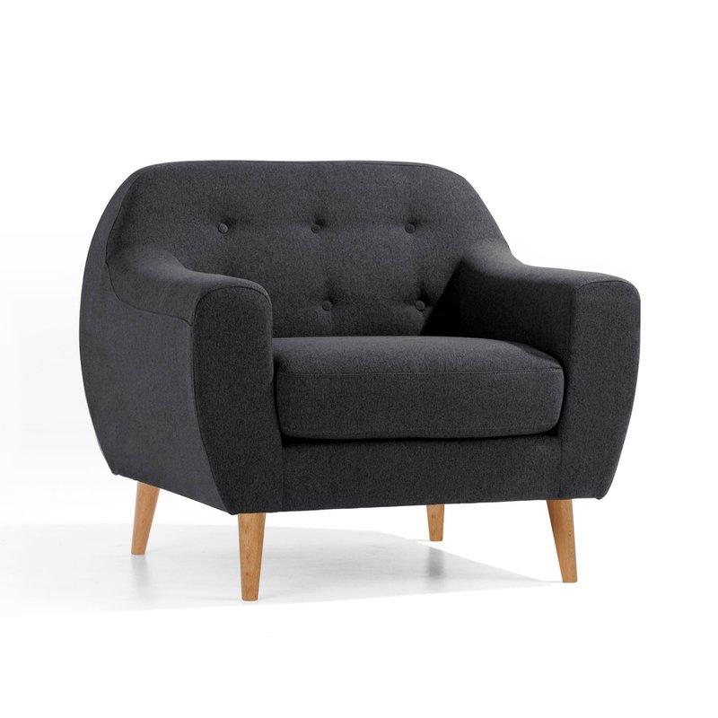 fauteuil scandinave noir scandi maison et styles. Black Bedroom Furniture Sets. Home Design Ideas