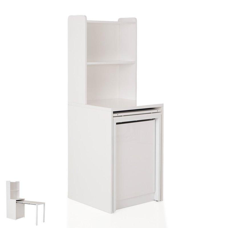 console extensible laqu e brillant avec rangement evoplus maison et styles. Black Bedroom Furniture Sets. Home Design Ideas