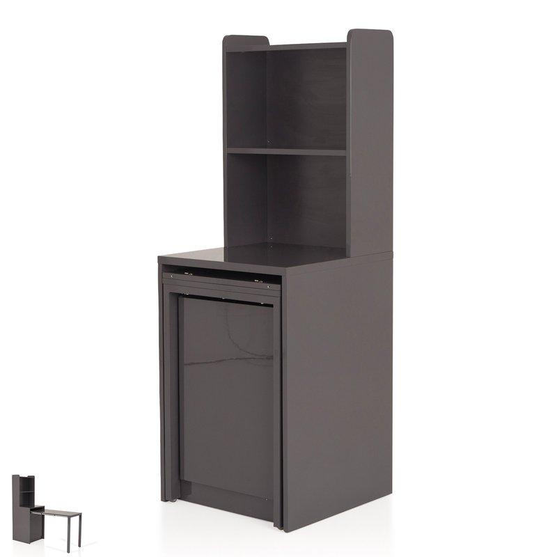 console extensible avec rangement coloris gris evoplus maison et styles. Black Bedroom Furniture Sets. Home Design Ideas