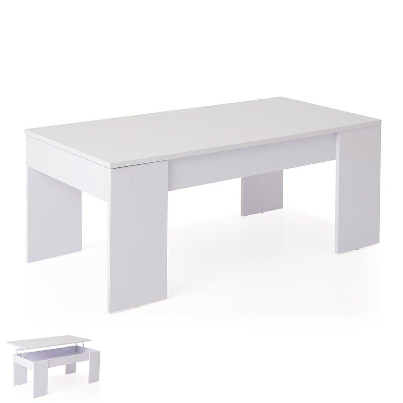 table basse relevable blanche evoplus maison et styles. Black Bedroom Furniture Sets. Home Design Ideas