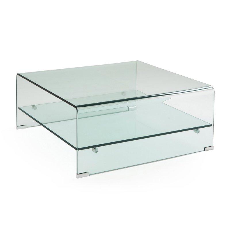 Table Basse Carree 80 Cm En Verre Trempe Vidro Maison Et Styles