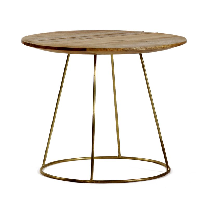 table basse 50x40cm en manguier et m tal maison et styles. Black Bedroom Furniture Sets. Home Design Ideas