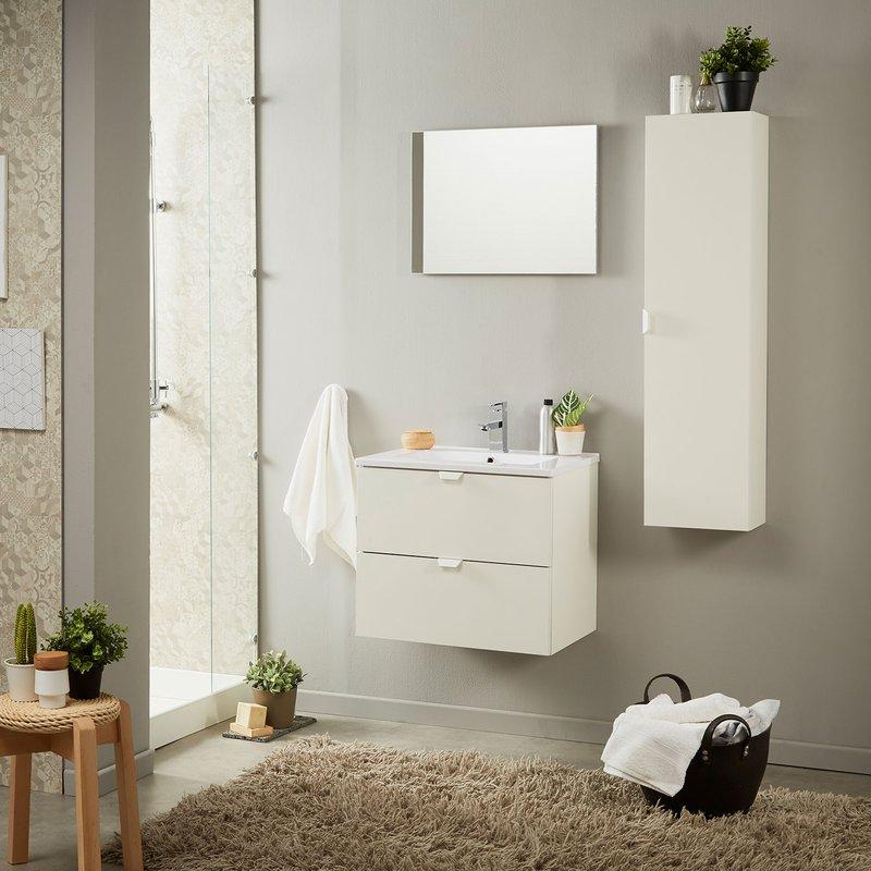 Colonne Salle De Bain 1 Porte Blanc Brillant Maison Et Styles