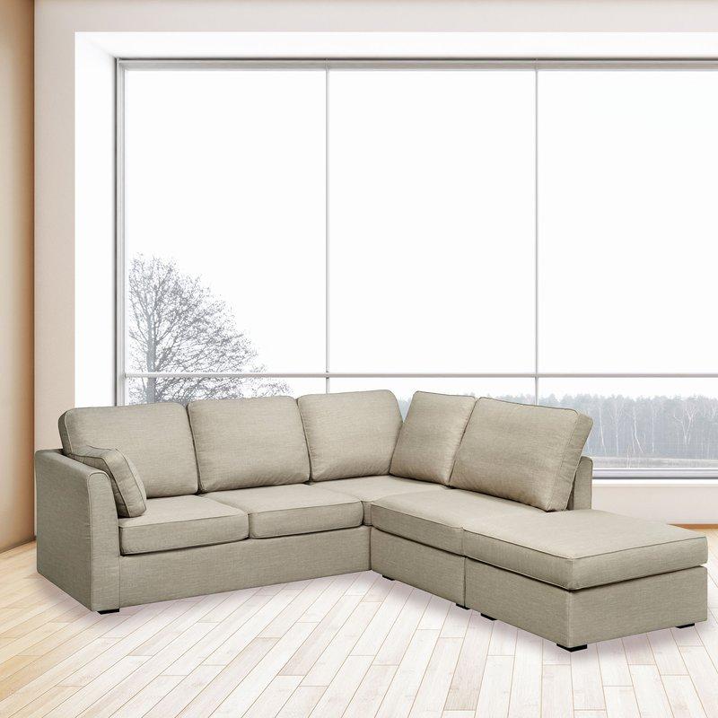 Canapé - Canapé d'angle en microfibre gris - CHARLES photo 1