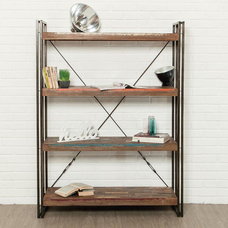 etag re 120 cm 4 niveaux en teck recycl tundra maison et styles. Black Bedroom Furniture Sets. Home Design Ideas