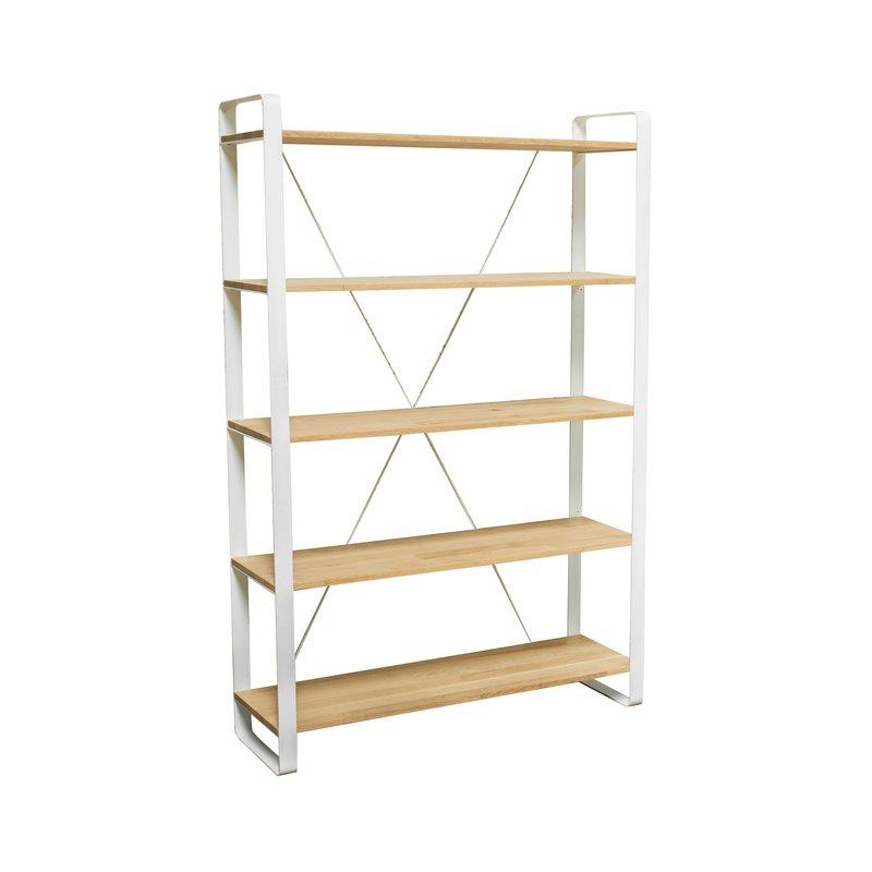 etag re en m tal blanc et ch ne massif maison et styles. Black Bedroom Furniture Sets. Home Design Ideas