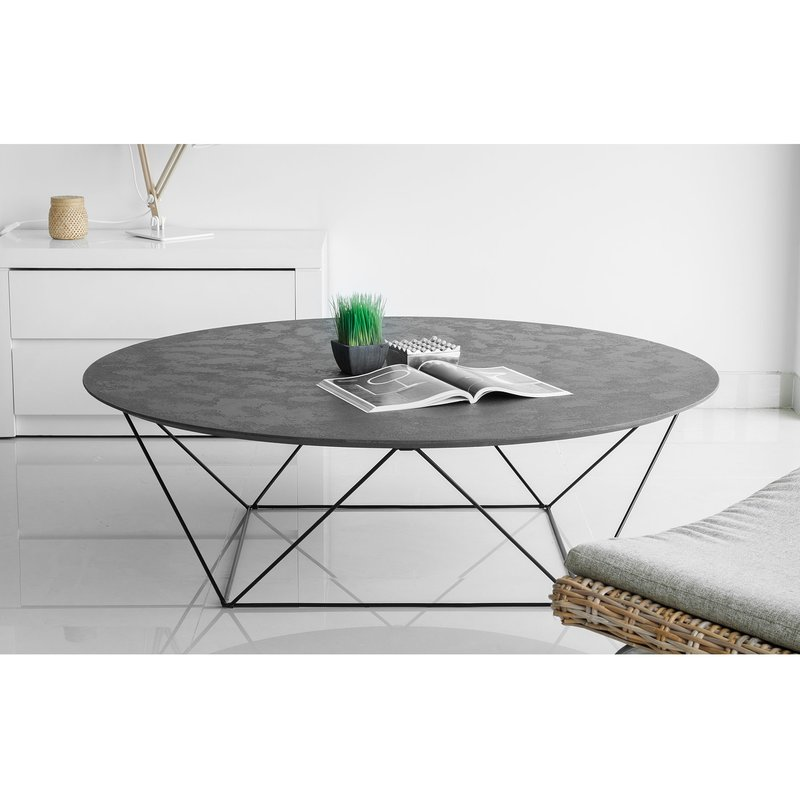 table basse effet b ton cir epernay maison et styles. Black Bedroom Furniture Sets. Home Design Ideas