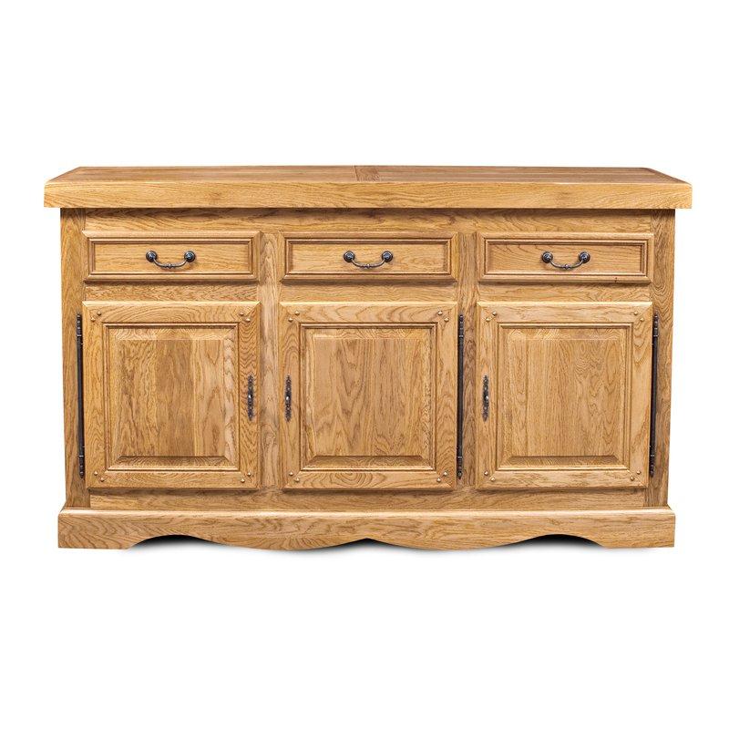Buffet - vaisselier - Bahut 3 portes 3 tiroirs chêne clair photo 1