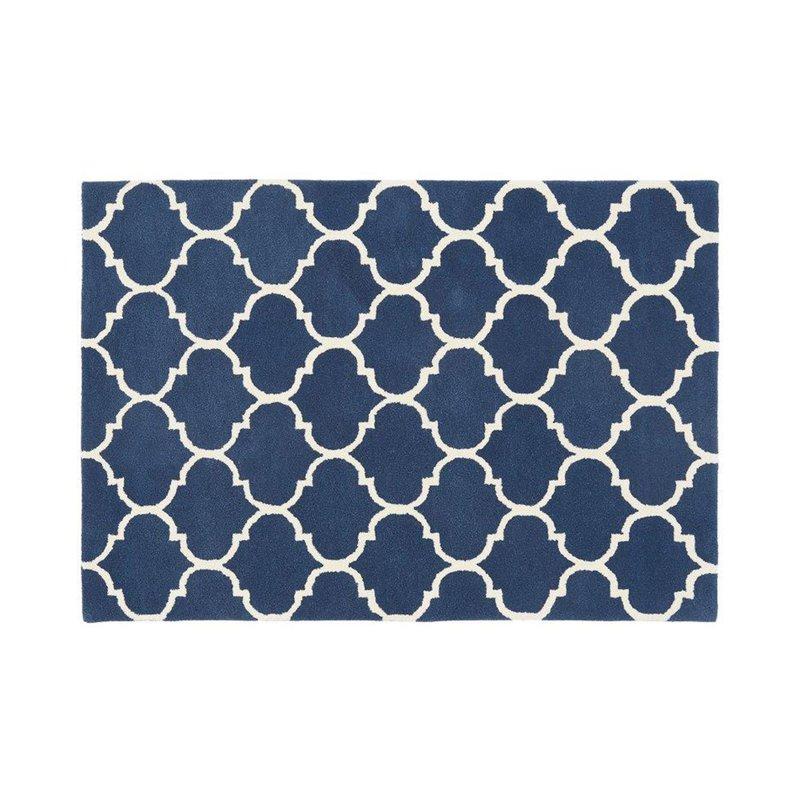 Tapis - Tapis 160x230 cm en velours bleu foncé - HAKIN photo 1