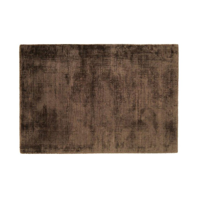 Tapis - Tapis 120x170 cm en viscose chocolat - FLASH photo 1