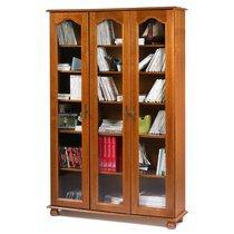 Bibliothèque 3 portes vitrées en chêne - QUIMPER