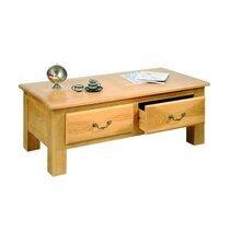 Table basse 2 tiroirs en chêne clair - AURELIA