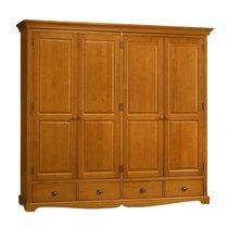 Grande armoire penderie de style Anglais en pin miel - AUTHENTIC PIN MIEL