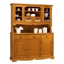 Buffet vaisselier 5 portes 5 tiroirs de Style Anglais en pin miel - AUTHENTIC PI