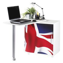 Meuble informatique london blanc