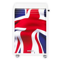 Classeur rideau coulissant london blanc