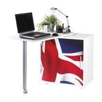 Bureau + table cuisine coloris blanc