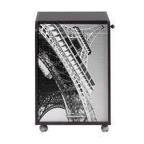 Caisson 1 tiroir + rideau paris coloris noir
