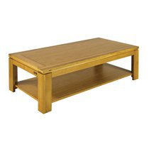 Table basse rectangulaire chene clair