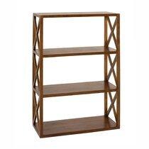 Etagère croisillons avec 3 niveaux en bois - VOTARA