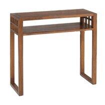 Console rectangulaire 1 étagère en bois - VOTARA