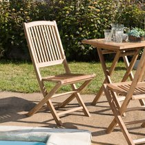 Lot de 2 chaises de jardin en teck