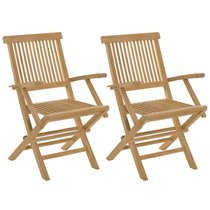 lot de 2 fauteuils en teck massif
