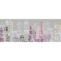 Sticker tête de lit 160x59cm motif escapade parisienne