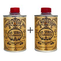Set rénovateur bois + huile nourrissante - Les secrets de Léontine