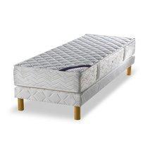 Ensemble matelas ressorts biconiques - confort équilibré 80x190cm + sommier