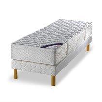 Ensemble matelas ressorts ensachés - grand confort ferme 80x190cm + sommier