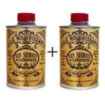 Lot de 2 pots huile nourrissante pour bois - Les secrets de Léontine