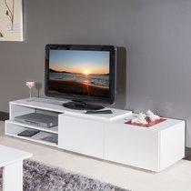 Meuble tv 2 tiroirs blanc 168 cm
