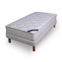 Ensemble matelas ressorts biconiques- confort ferme 80x190cm + sommier