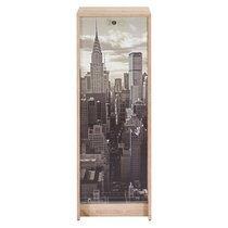 Classeur à rideau uni chêne new york H103cm