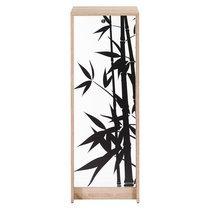 Classeur à rideau H103 cm chêne et décor bamboo
