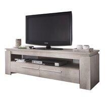 Meuble TV 2 tiroirs décor chêne champagne