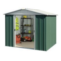 Abri de jardin métal 5,25 m2 - vert et alu