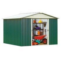 Abri de jardin métal 9,03 m2 - vert et alu