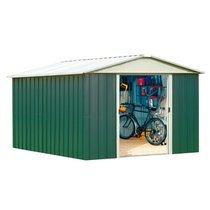 Abri de jardin métal 12,00 m2 - vert et alu