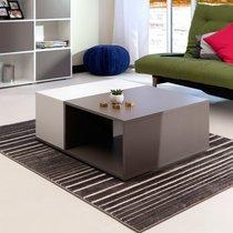 Table basse 89 cm bicolore blanc et taupe