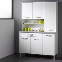 Buffet de cuisine 6 portes 120x44x181cm coloris blanc