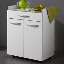 Desserte cuisine 60x45x82cm coloris blanc
