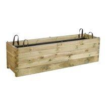 Jardinière en bois Prélude 180x50x50cm
