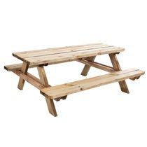 Table de pique-nique en bois 6 personnes Matisse 180x165x70cm