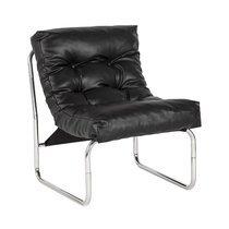 Fauteuil design 60x73x76cm noir - BOUDAR